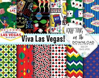 vegas digital paper casino digital paper las vegas paper pack casino paper pack casino night paper gambling scrapbook paper