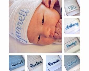 Newborn boy hat - coming home outfit hat - baby boy hospital hat - newborn hospital hat boy - personalized baby boy hat - newborn beanie boy
