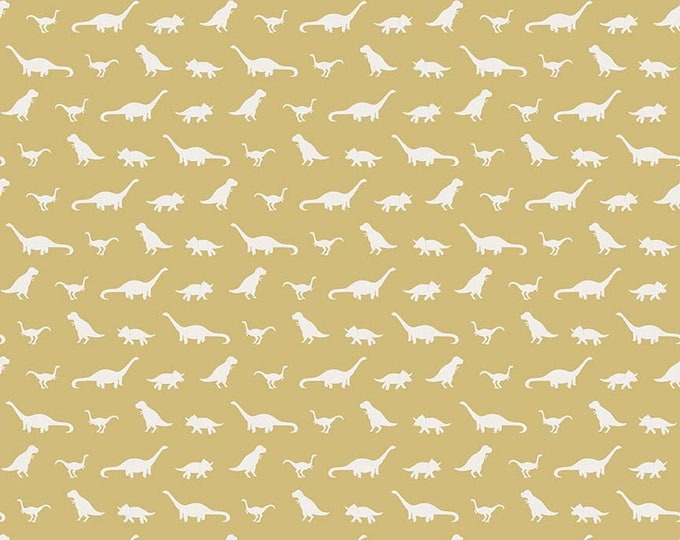 Fossil Rim by Riley Blake - Tiny Dino Yellow - Cotton Woven Fabric
