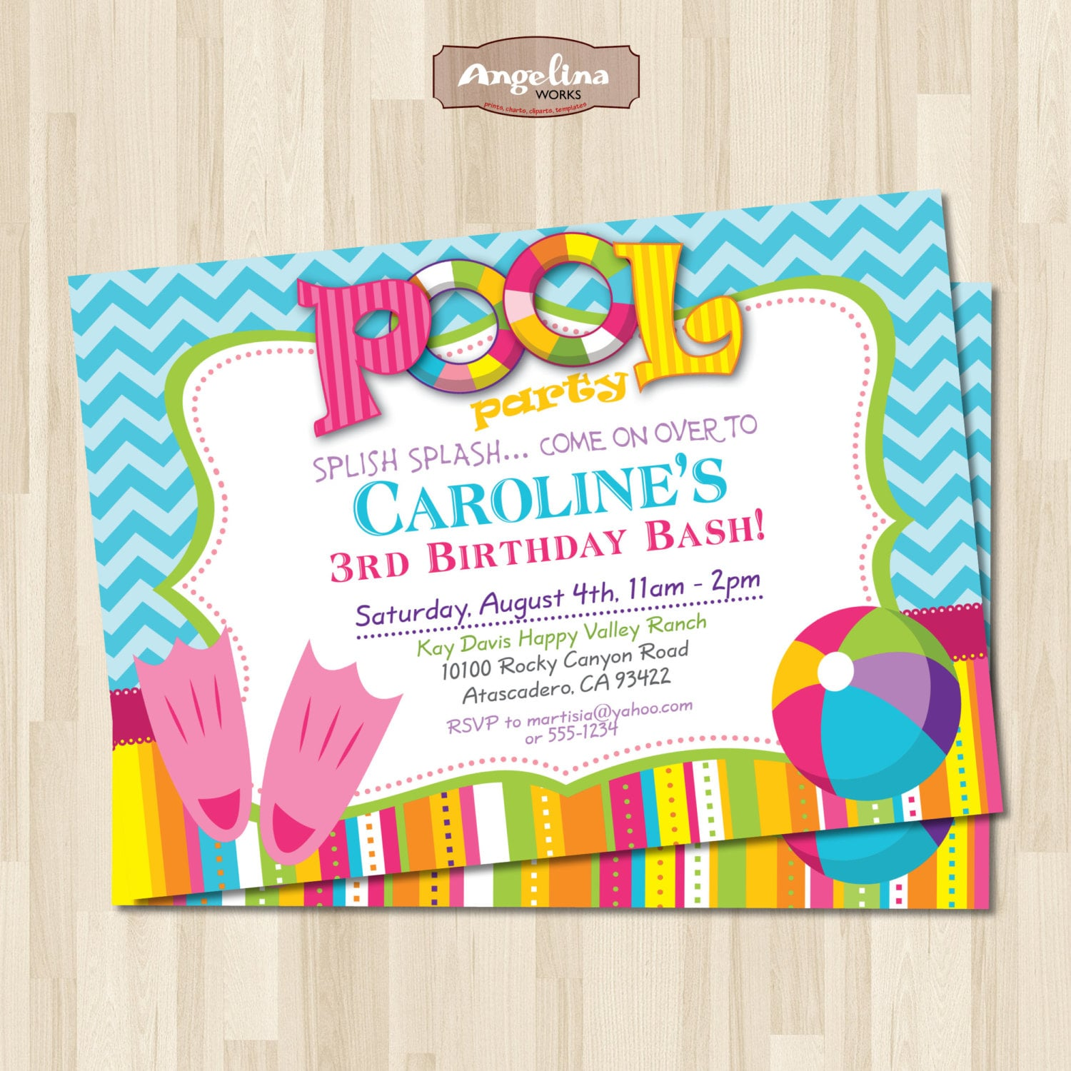 diy pool party invitations - Yeni.mescale.co