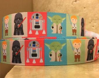 5 YDS Colorful Star Wars Minifigure Ribbon