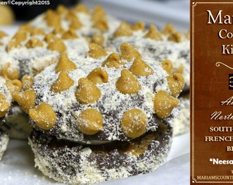 """6 """"Neesah's Peanut Butter N' Chocolate Cannoli"""" - NC Southern Style French Macaroon Biscuits"""