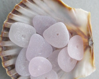 Lavender Drilled Sea Glass, Amethyst Beach Glass, Purple Genuine Seaglass, Beach Treasure, Jewelry Supply Center Drilled