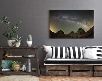 Milky Way Photo Print, Boulder Photography Print, Night Sky Photography Print