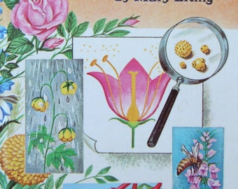 Flowers and What They Are by Mary Elting - Children's Picture Book - a Whitman Learn About Book