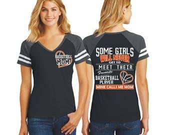 Basketball Mom Shirt Basketball Clothing Custom Basketball Mom Sweatshirt Basketball Coach Gift Basketball Heart Basketball Dad Shirts DM4