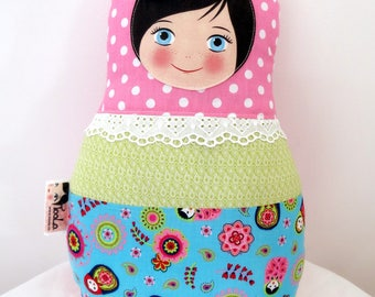 "Babushka matryoshka softie plush doll pillow gift, Medium, 38cm/15"" tall"
