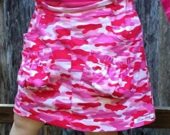Koda Cargo Skirt PDF pattern and tutorial - sizes 1 to 6 - Girl - By Koda Baby