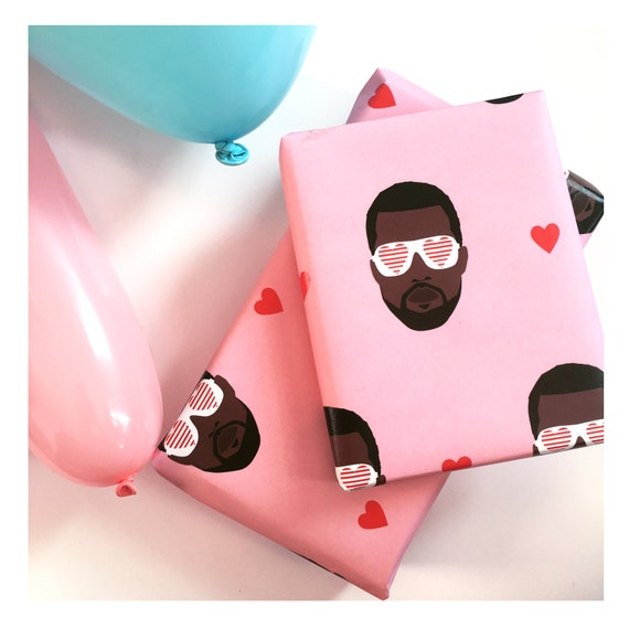 kanye west wrapping paper hip hop themed wrapping paper