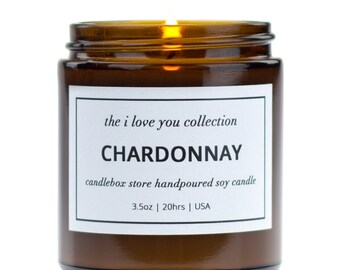 2 Pack Gift Set, Scented Candles, Scents of Chardonnay White Wine with a Tropical Blend of Coconut, Pineapple, Tangerine, CandleBox Store