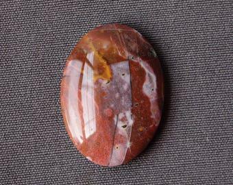 Cabochon Pierre de jaspe mystère - Pierre ovale motif mosaïque