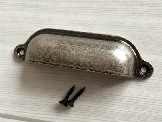 - Antique Black Silver Retro Bin Drawer Pull Dresser Pulls Knobs