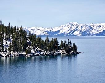 Lake Tahoe in Winter. Nevada USA