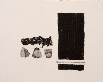Abstract III Print (black) - Collagraph