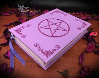 """Book of shadows / Diary """"Purple Pentacle"""" paganism pagan symbolism wicca handcrafted journal wizardry"""
