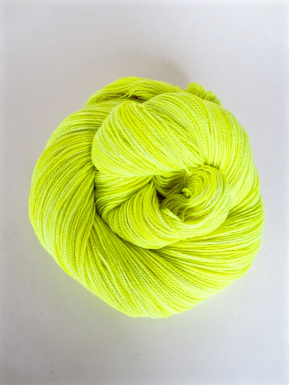 VOLT yellow hand dyed yarn