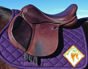Be Tenacious! Purple Saddlepad for All Purpose English Saddles from The Carrot Collection CA-75