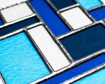 Azure - Stained Glass Suncatcher
