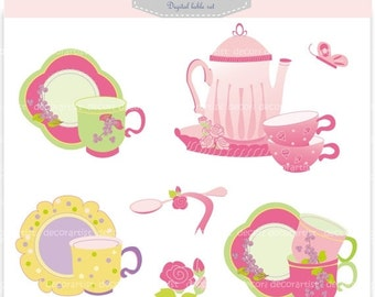tea cup clip art etsy rh etsy com tea party clipart images tea party clip art borders