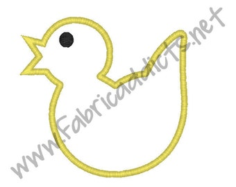 Chick Applique fits 4x4 Hoop for Embroidery Machine - Automatic Download Multiple Formats