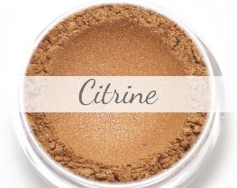"Eyeshadow Sample - ""Citrine"" - shimmery rose gold (Vegan) Natural Mineral Makeup"