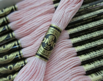 963, Ultra Very Light Dusty Rose, DMC Cotton Embroidery Floss - 8m Skeins - Full (12-skein) Boxes - Get Up To 50% OFF, see Description