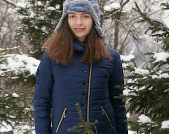 Women's hat Russian ushanka