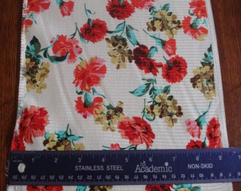 100% Silk Charmeuse Prints - Carnations