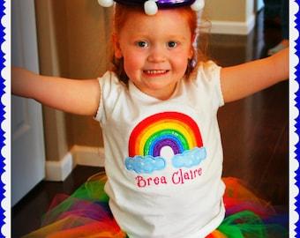 Rainbow Tutu, Birthday Skirt, Photo Props, Halloween Costume, Marathon Skirt, custom orders welcome from newborn to plus size adults