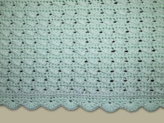 Crochet Pattern Baby Blanket Pattern Pastel Aquamarine Baby
