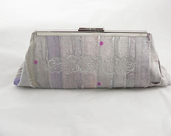 Evening Bag, Clutch Purse, Clutch Purse with Strap, Silver Evening Clutch, Party Clutch, Clutch Bag, Eco-Friendly, Vintage Inspired Clutch