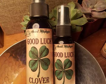 Good luck clover automatic, oil infused, crystals spray 2oz and 4oz bottles