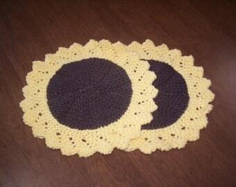 Sunflower dishcloths