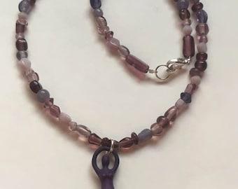 Goddess Necklace  (Purple)