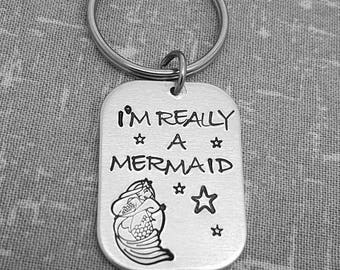 I'm Really A Mermaid Keyring - Cute MermaidGift Keyring - Mermaid - Mermazing - Mermaid Present