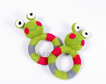 Baby rattle toy Grasping and Teething Toys Frog Stuffed toys Gift for baby Girls Boys