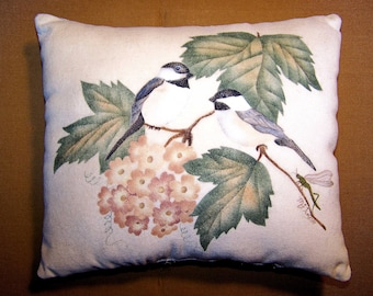 Black Capped Chickadees Theorem Pillow
