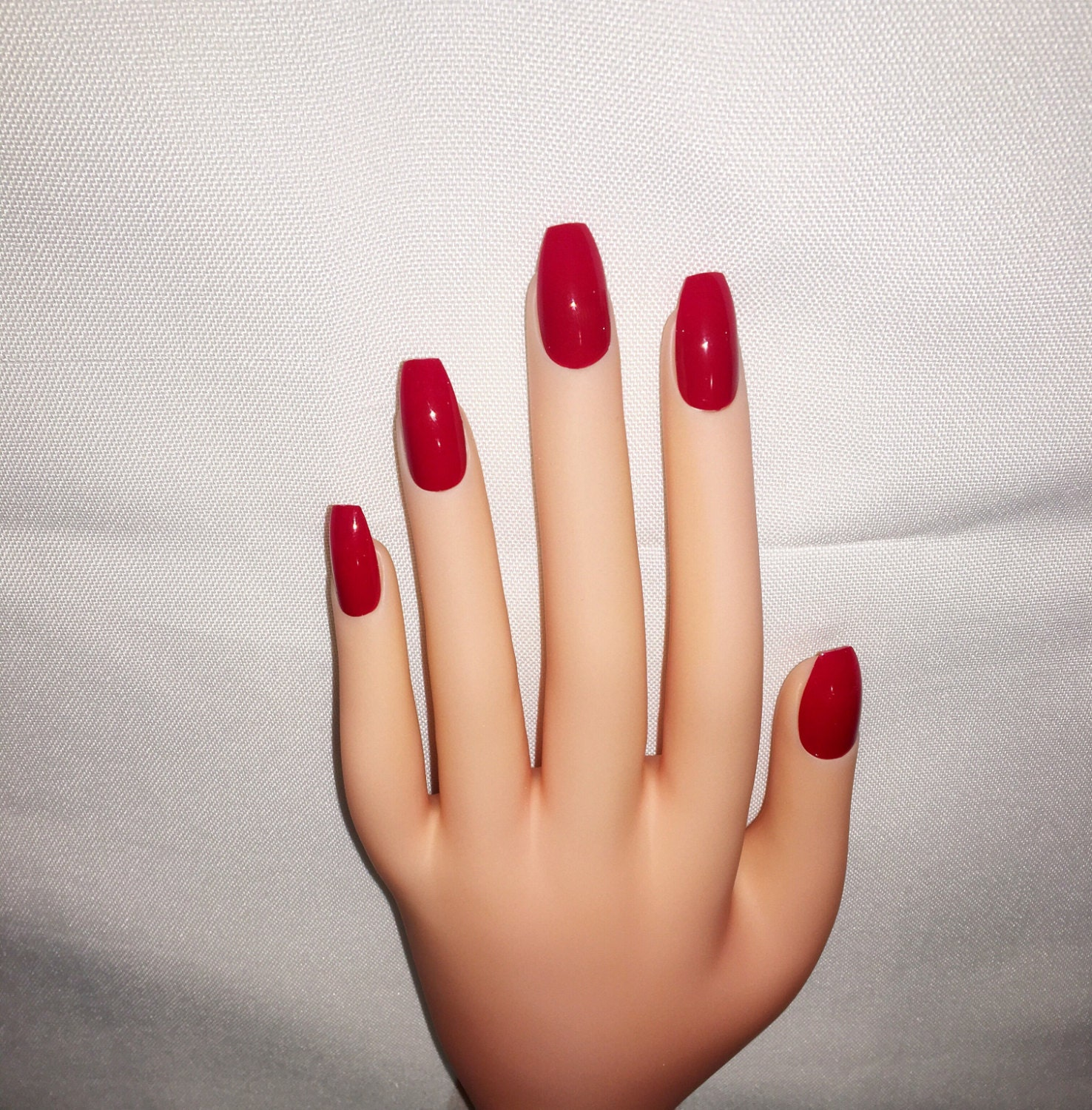 Blood Red Press On Nails l Red Fake Nails l Red False Nails l Red ...