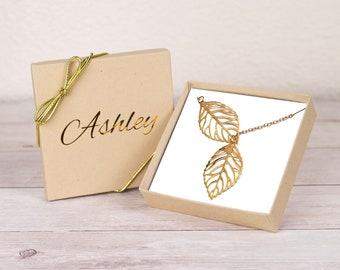 Tree Leaf Necklace, Personalized Gift,Tree Leaf Pendant, Y Necklace, Leaf Necklaces, Hollow Leaf Necklace, Fallen Leaf Necklace,Gift for Her