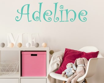 Little Girls Bedroom Decor - Personalized Name Decal - Girls Name Decal - Name Wall Decal - Girls Room Wall Decal - Girls Bedroom