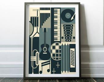 Music Poster, Wall Art, Music Print, Wall Art Print, Music Art, Music Wall Art, Modern Music Print, Modern Print, Modern Music Poster, Art