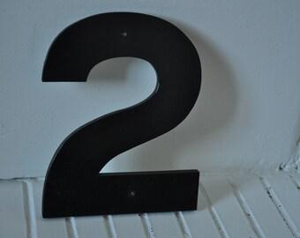 """Vintage sign number """"2"""""""