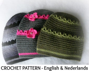 English + Dutch Pattern - Baby Baggy / Slouch  Beanie for Boys and  Girls 6-24  months