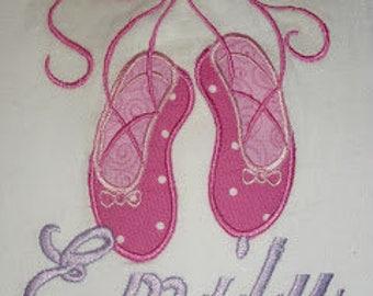Ballet Slippers Applique Shirt