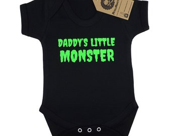 Daddys Little Monster printed baby vest alternative goth rock