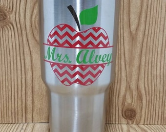 Personalized Teacher/School Bus Driver/Monitor Appreciation Gift 30 oz. Stainless Steel Tumbler