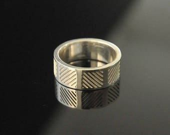 Silver Ring, Ring for Men, Sterling Silver Ring, Silver Band