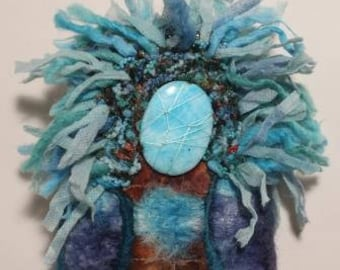 The Dreamer Spirit Doll wall hanging OOAK