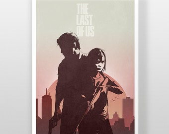 The Last Of Us Poster, Endure and Survive Joel & Ellie TLOU Fireflies Print