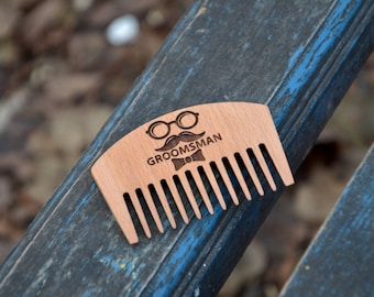 Groomsmen gifts, Groomsmen comb, Personalized Comb, Wooden Comb, Gift for him, Rustic comb, Natural Comb Wooden Hair Comb Beard Comb for him